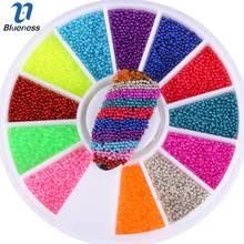Синева 12 Цветов микрошарики колеса ногтей украшения <b>3D</b> ...