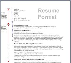 job application resume format template standard resume format template
