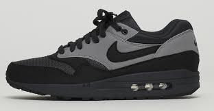 black and grey air max 1 nike black grey nike air