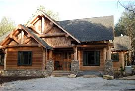 ePlans Ranch House Plan   Rustic Cabin In Harmony With Natural    Front