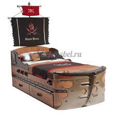 <b>Кровать корабль Cilek Black</b> Pirate - купить по лучшей цене с ...