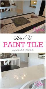 Diy Tile Kitchen Countertops How To Paint Tile Countertops This Is So Great For Outdated