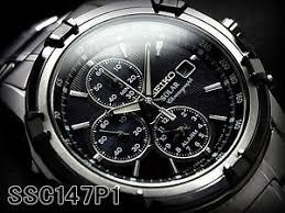 seiko mens solar chronograph alarm watch ssc147p1 warranty box image is loading seiko mens solar chronograph alarm watch ssc147p1 warranty