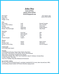 special skills examples for acting resume cipanewsletter example of acting resume shopgrat