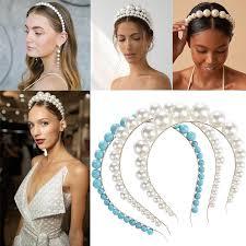 New <b>Luxury</b> Big Imitation Pearl Headband for Women Wild ...