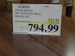 park avenue piece counter   charleston  piece counter height dining set discount costco