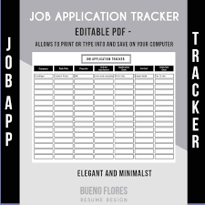 job application tracker job application log editable 🔎zoom