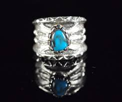 Sterling Silver Bisbee Turquoise Tufa <b>cast Ring</b> By Tim Herrera ...