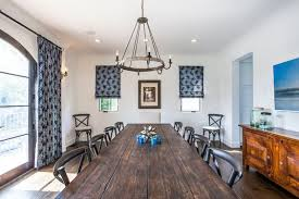 real rustic kitchen table long: mediterranean style dining room with long wooden dining table long rustic dining table