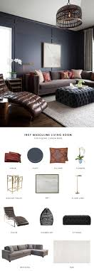 living room carolina design associates: this dark masculine living room by ryan street and associates gets recreated for less by copycatchic