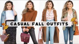 4 <b>Casual FALL</b> OUTFIT IDEAS | <b>Fall</b> Outfit Lookbook <b>2018</b> with ...
