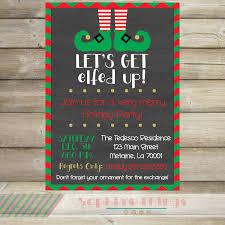 let s get elfed up christmas party invitation holiday 128270zoom