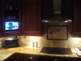 klv cabinet kitchen tv swivel