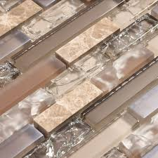 marble bend glass mosaic kitchen beige and tan cracked glass tile with stone backsplash tile kitchen ba