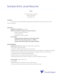 Entry Level Resume Sample Objective  cover letter objective for       entry level