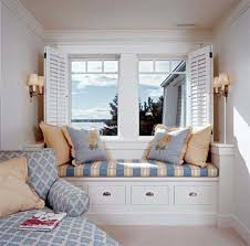bay windows bench with storage comfy pillows relaxing and reclining chair a pair of double wall bay window furniture
