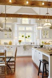 kitchen linear dazzling lights clear ceiling recessed: exposed beams with accent lighting are one of the features in this sudbury ma kitchen