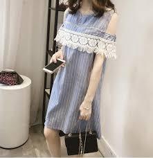 Pengpious <b>2019 Pregnant women</b> breastfeeding <b>dress</b> stripe lace ...