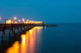 Pier with lovely lighting and a smooth long exposure.