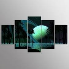 <b>5 Pieces HD Print</b> Painting Railway Track Bicycle Landscape Photo ...