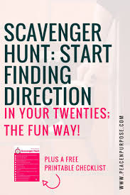 17 best ideas about career planning career advice scavenger hunt direction in your twenties the fun way