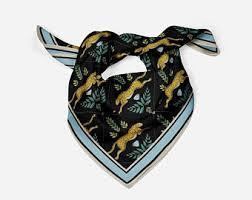 Square silk scarf | Etsy