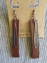 Leather and <b>Antique Copper water drops</b> l Drop earrings l Essential ...