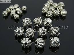 Tibetan Silver Round Lantern Pumpkin Spacer <b>Loose Beads</b> ...