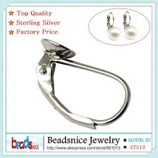 <b>Beadsnice</b> 100% <b>pure 925 sterling</b> silver french earrings leverback ...