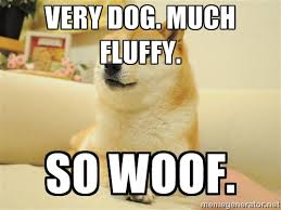 very dog. much fluffy. so woof. - so doge | Meme Generator via Relatably.com