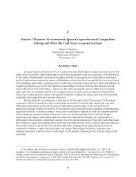 appendix e session keynote governmental space cooperation and page 47