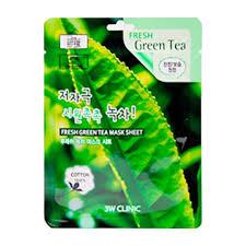 <b>Тканевая маска</b> 3W Clinic Fresh Green Tea Mask Sheet – купить в ...