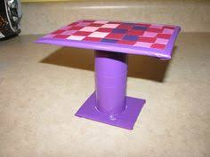 homemade barbie furniture the dining table is also just cardboard duct tape toilet barbie furniture ideas