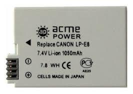 Купить <b>Аккумулятор ACMEPOWER AP</b>-LP-E8, для зеркальных ...