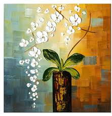 Wieco Art - Beauty of Life 100% <b>Hand Painted</b> Modern Flowers ...
