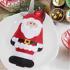 household dining table set christmas snowman knife: pc standing santa spoon knife tableware utensil pocket bag holder supplieschina mainland