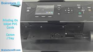 Print <b>PVC</b> Cards with Inkjet Printer (Canon MG5420 using <b>J</b> Tray ...