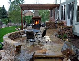 posh backyard patio ideas for making the outdoor more functional captivating brick fench and stone floor architecture awesome modern outdoor patio design idea