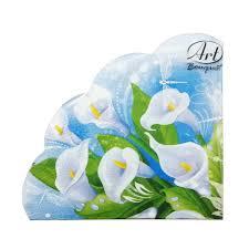 <b>Салфетки бумажные</b> цветные <b>Art Bouquet</b> Rondo круглые купить ...
