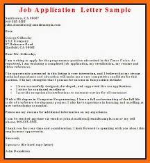 employment application letter samples employment  sample letter of application for job of chef