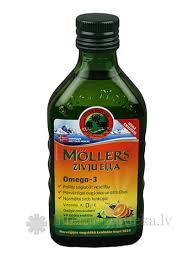 Moller's Omega-3 — рыбий <b>жир</b> с фруктовым вкусом, 250мл