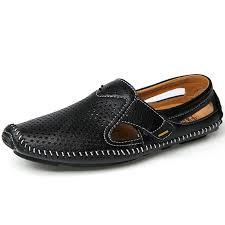 <b>Men</b> Sandals Summer Casual Leather <b>Flat Shoes Soft</b> Comfortable ...