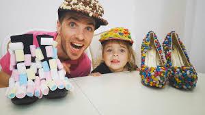 Анна и папа - сладкие туфли и сладкая кепка это асмр - DIY ...