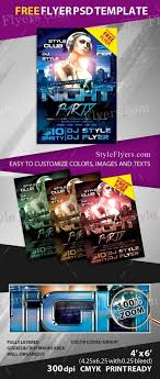 night party psd flyer template 17246 styleflyers ing our printable flyer templates you get