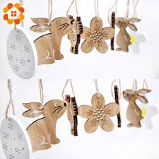 1PC DIY Cute Egg&Chick&Butterfly&Flower Wooden <b>Easter</b> ...