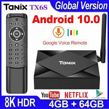 <b>Tanix TX6S Android 10.0</b> Smart TV BOX 4GB RAM 32GB 64GB ...