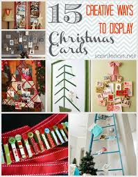 everything christmas all posts in one place jenna burger ideas for displaying christmas cards