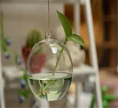 Lower Implement Suspension Type Transparent Glass Vase ...