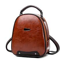 Vintage Style Women Mini <b>Backpack Female PU Leather</b> Backpack ...