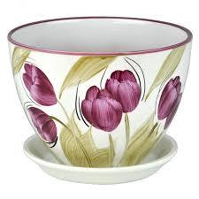 <b>горшок керамический Венеция Тюльпаны</b> диаметр 19 см 2 4 л ...